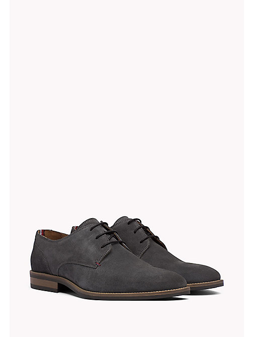 TOMMY HILFIGER Suede Derby Shoes - CHARCOAL - TOMMY HILFIGER Veterschoenen - main image