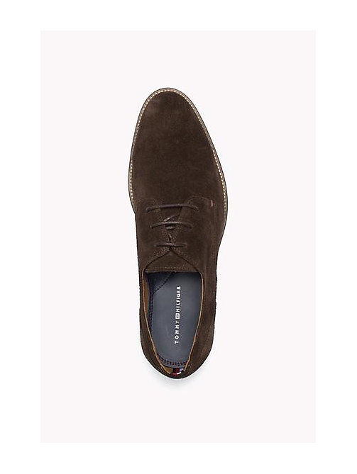 TOMMY HILFIGER Suede Derby Shoes - COFFEEBEAN - TOMMY HILFIGER Lace-up Shoes - detail image 1