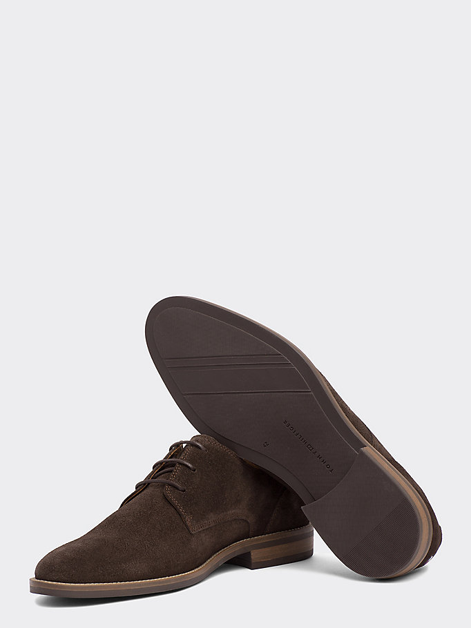 TOMMY HILFIGER Suede Derby Shoes - CHARCOAL - TOMMY HILFIGER Heren - detail image 1