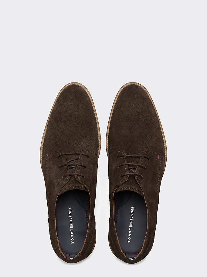TOMMY HILFIGER Suede Derby Shoes - CHARCOAL - TOMMY HILFIGER Men - detail image 3