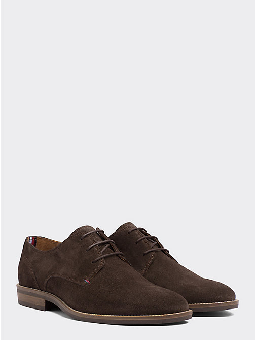 TOMMY HILFIGER Suede Derby Shoes - COFFEE BEAN - TOMMY HILFIGER Stringate - immagine principale
