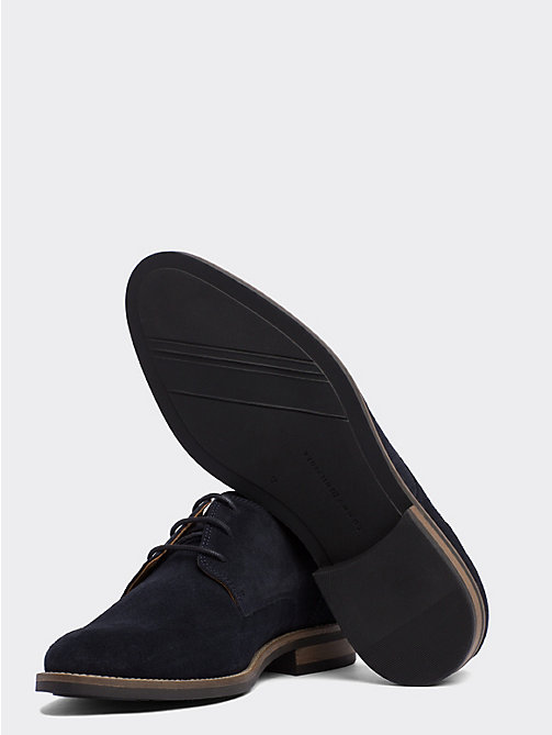 TOMMY HILFIGER Suede Derby Shoes - MIDNIGHT - TOMMY HILFIGER Stringate - dettaglio immagine 1
