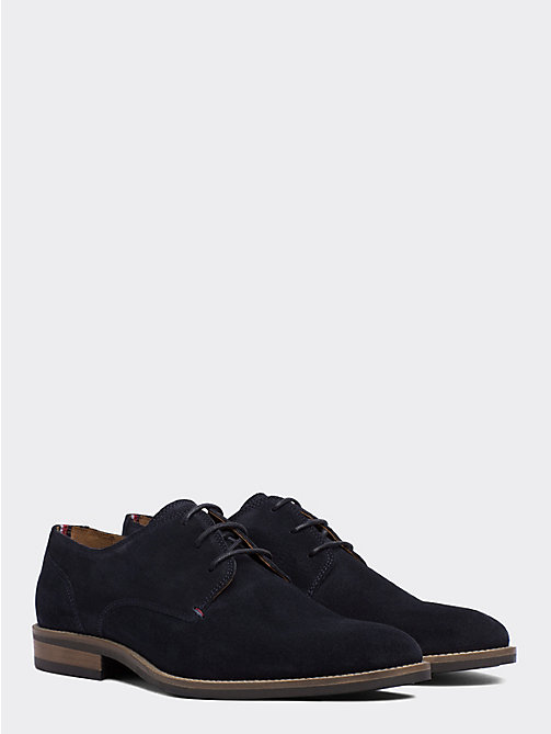 TOMMY HILFIGER Suede Derby Shoes - MIDNIGHT - TOMMY HILFIGER Stringate - immagine principale
