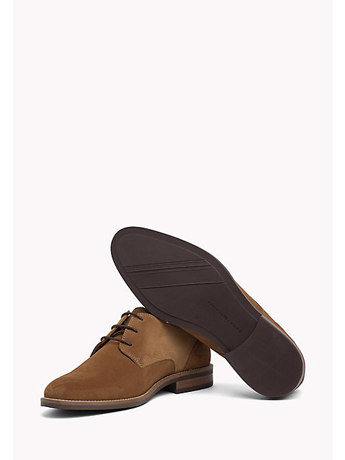 TOMMY HILFIGER Suede Derby Shoes - COGNAC - TOMMY HILFIGER Best Sellers - detail image 1