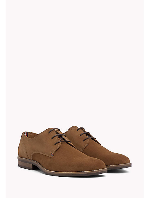 TOMMY HILFIGER Suede Derby Shoes - COGNAC - TOMMY HILFIGER Shoes - main image