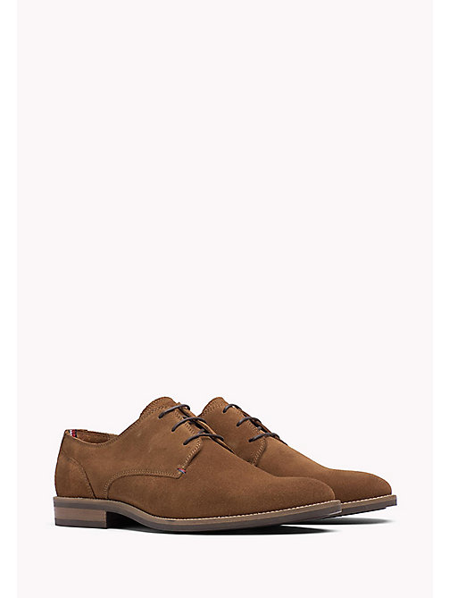 TOMMY HILFIGER Suede Derby Shoes - WINTER COGNAC - TOMMY HILFIGER Lace-up Shoes - main image