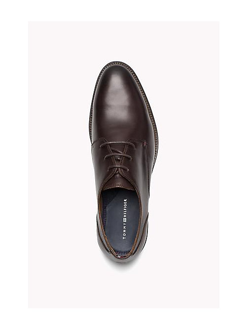 TOMMY HILFIGER Essential Leather Derby Shoes - COFFEEBEAN - TOMMY HILFIGER Shoes - detail image 1