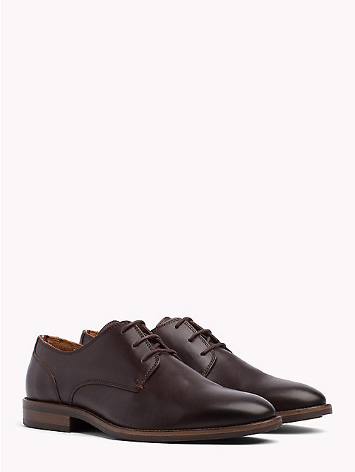 TOMMY HILFIGER Essential Lace-up Derby Shoes - COFFEE - TOMMY HILFIGER Shoes - main image