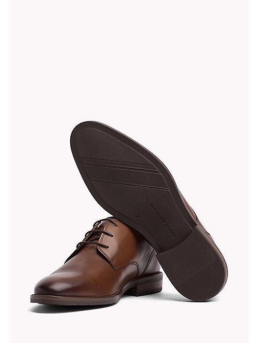 TOMMY HILFIGER Essential Leather Derby Shoes - COGNAC - TOMMY HILFIGER Туфли на шнуровке - подробное изображение 1