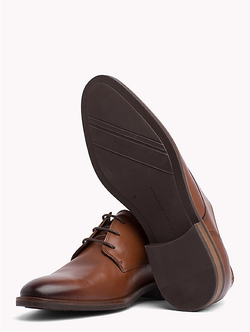TOMMY HILFIGER Essential Lace-up Derby Shoes - WINTER COGNAC - TOMMY HILFIGER Shoes - detail image 1