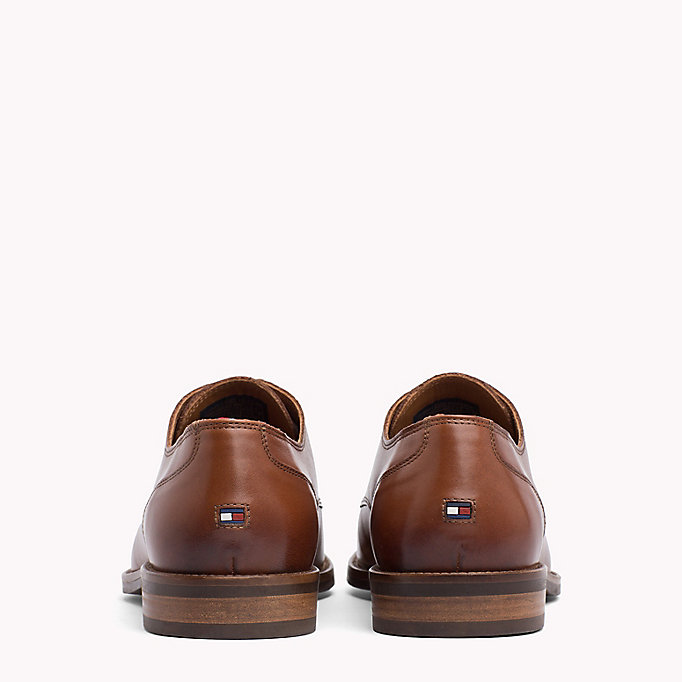 TOMMY HILFIGER Essential Leather Derby Shoes - COGNAC - TOMMY HILFIGER Hommes - image détaillée 2