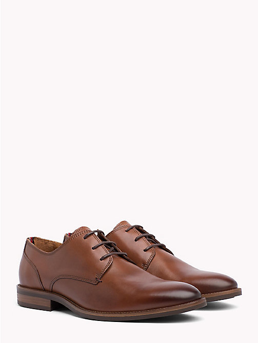 TOMMY HILFIGER Essential Lace-up Derby Shoes - WINTER COGNAC - TOMMY HILFIGER Lace-up Shoes - main image