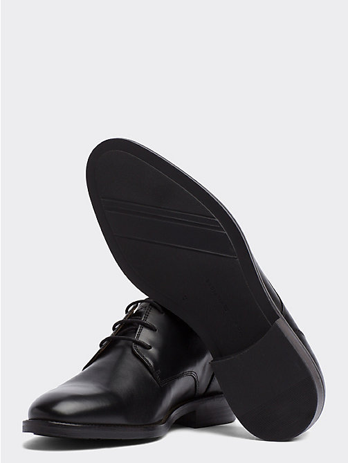 TOMMY HILFIGER Essential Leather Derby Shoes - BLACK - TOMMY HILFIGER Stringate - dettaglio immagine 1