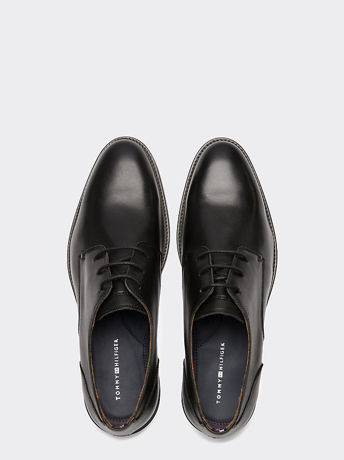 TOMMY HILFIGER Essential Leather Derby Shoes - WINTER COGNAC - TOMMY HILFIGER Uomini - dettaglio immagine 3