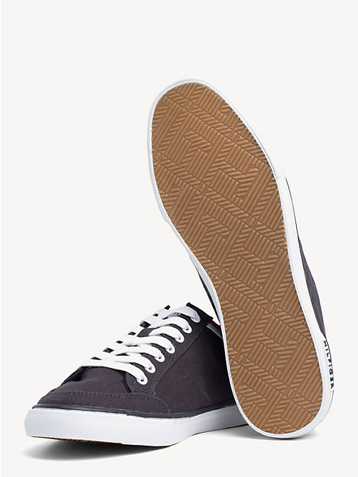 TOMMY HILFIGER Stripe Textile Trainers - MIDNIGHT - TOMMY HILFIGER Shoes - detail image 1