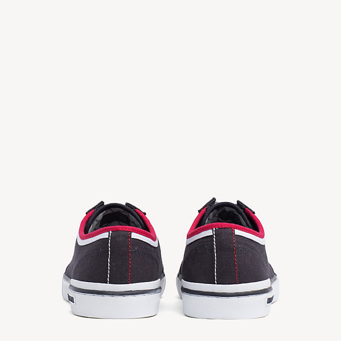 TOMMY HILFIGER Stripe Textile Trainers - WHITE - TOMMY HILFIGER Men - detail image 2