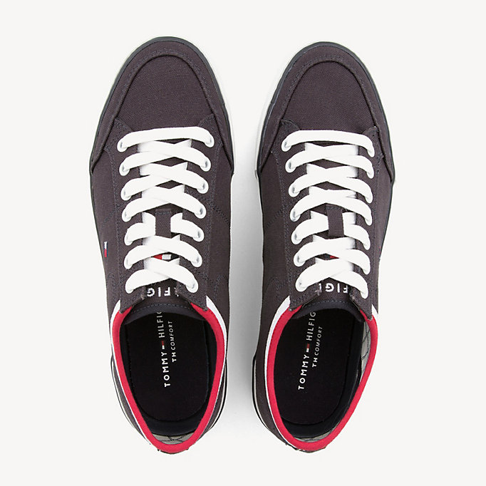 TOMMY HILFIGER Stripe Textile Trainers - WHITE - TOMMY HILFIGER Men - detail image 3
