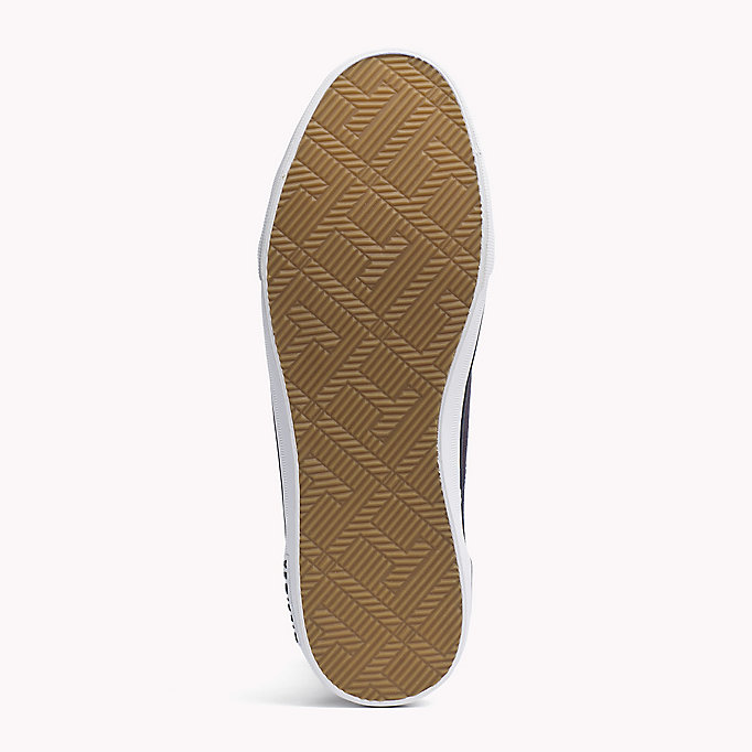 TOMMY HILFIGER Stripe Textile Trainers - WHITE - TOMMY HILFIGER Men - detail image 4