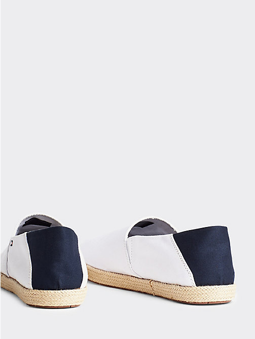 TOMMY HILFIGER Cotton Slip-On Shoes - WHITE - TOMMY HILFIGER Espadrilles - detail image 1