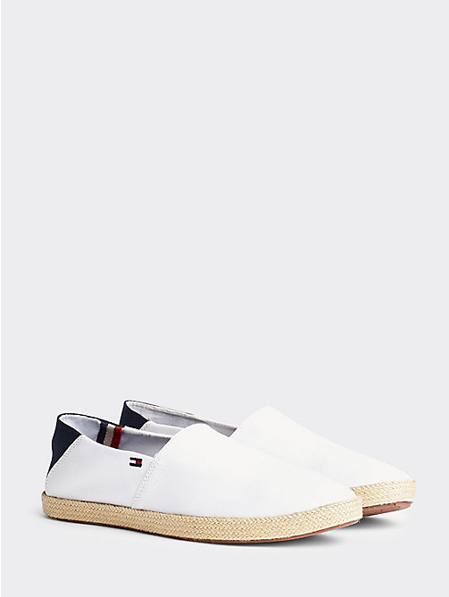 TOMMY HILFIGER Cotton Slip-On Shoes - WHITE - TOMMY HILFIGER Shoes - main image