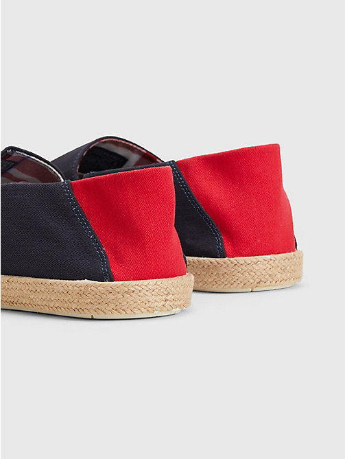 TOMMY HILFIGER Cotton Slip-On Shoes - MIDNIGHT - TOMMY HILFIGER Summer shoes - detail image 1