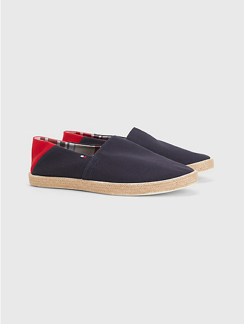 TOMMY HILFIGER Cotton Slip-On Shoes - MIDNIGHT - TOMMY HILFIGER Summer shoes - main image