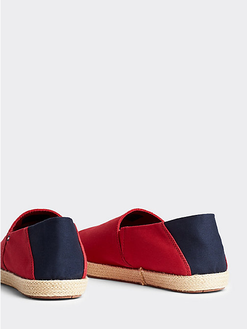 TOMMY HILFIGER Cotton Slip-On Shoes - TANGO RED - TOMMY HILFIGER Summer shoes - detail image 1