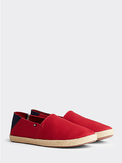 TOMMY HILFIGER Cotton Slip-On Shoes - TANGO RED - TOMMY HILFIGER Summer shoes - main image