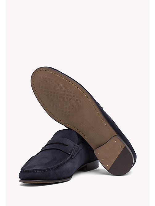 TOMMY HILFIGER Suede Penny Loafers - MIDNIGHT - TOMMY HILFIGER Formal Shoes - detail image 1