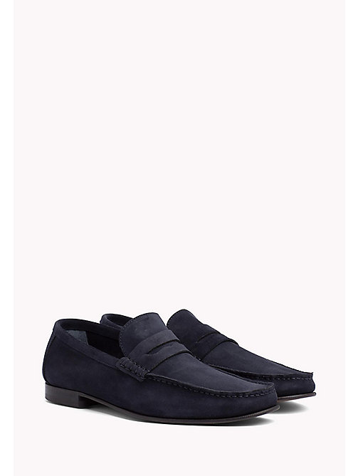 TOMMY HILFIGER Suede Penny Loafers - MIDNIGHT - TOMMY HILFIGER Formal Shoes - main image