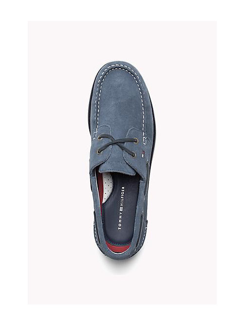 TOMMY HILFIGER Classic Leather Boat Shoes - JEANS - TOMMY HILFIGER Loafers & Boat Shoes - detail image 1