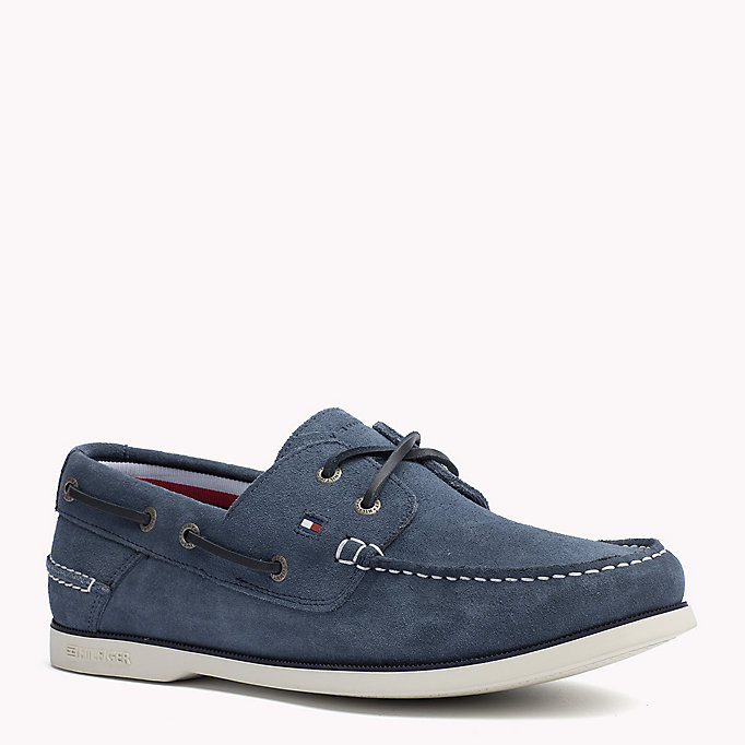TOMMY HILFIGER Classic Leather Boat Shoes - RWB - TOMMY HILFIGER Men - main image
