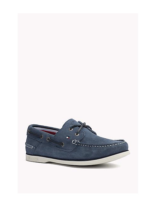 TOMMY HILFIGER Classic Leather Boat Shoes - JEANS - TOMMY HILFIGER Loafers & Boat Shoes - main image