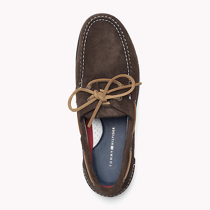 TOMMY HILFIGER Classic Leather Boat Shoes - JEANS - TOMMY HILFIGER Men - detail image 1