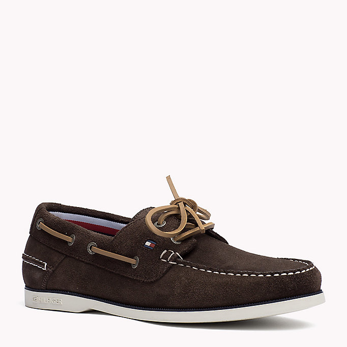 TOMMY HILFIGER Classic Leather Boat Shoes - JEANS - TOMMY HILFIGER Men - main image