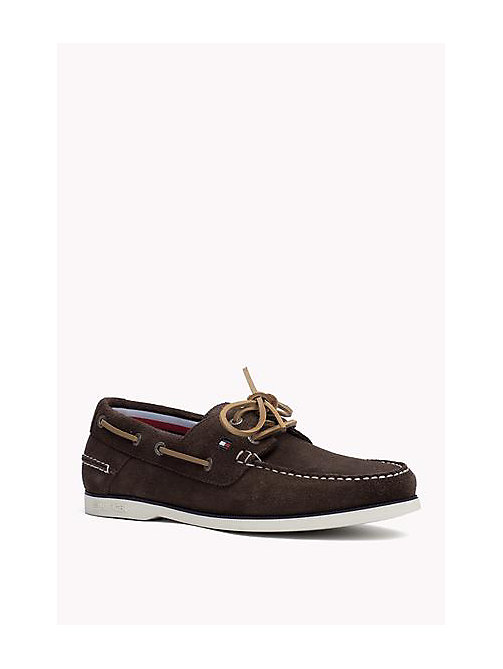 TOMMY HILFIGER Classic Leather Boat Shoes - COFFEEBEAN - TOMMY HILFIGER Loafers & Boat Shoes - main image
