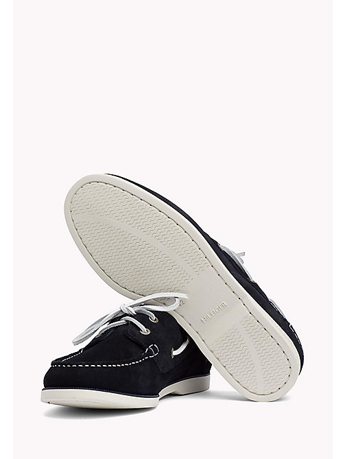 TOMMY HILFIGER Classic Leather Boat Shoes - MIDNIGHT -  Loafers & Boat Shoes - detail image 1