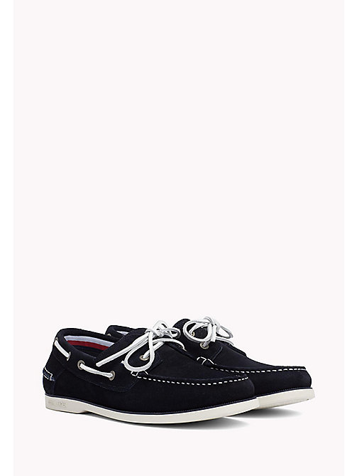 TOMMY HILFIGER Classic Leather Boat Shoes - MIDNIGHT - TOMMY HILFIGER Loafers & Boat Shoes - main image