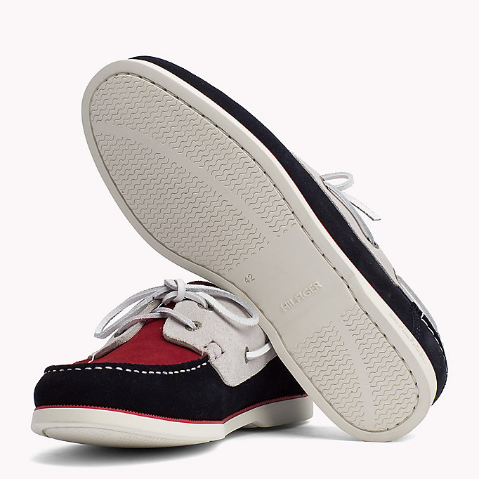 TOMMY HILFIGER Classic Leather Boat Shoes - MIDNIGHT - TOMMY HILFIGER Men - detail image 1