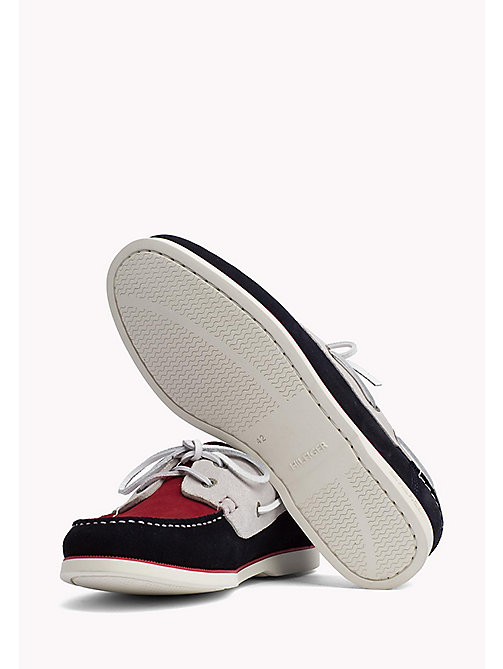 TOMMY HILFIGER Classic Leather Boat Shoes - RWB - TOMMY HILFIGER Loafers & Boat Shoes - detail image 1