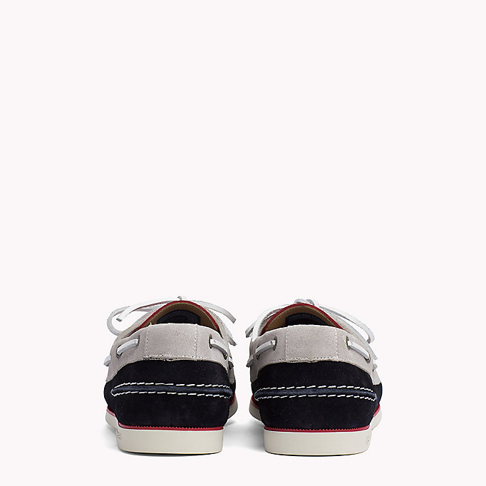 TOMMY HILFIGER Classic Leather Boat Shoes - MIDNIGHT - TOMMY HILFIGER Men - detail image 2
