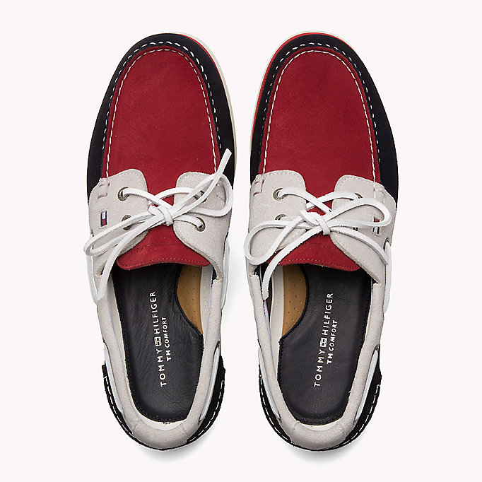 TOMMY HILFIGER Classic Leather Boat Shoes - MIDNIGHT - TOMMY HILFIGER Men - detail image 3