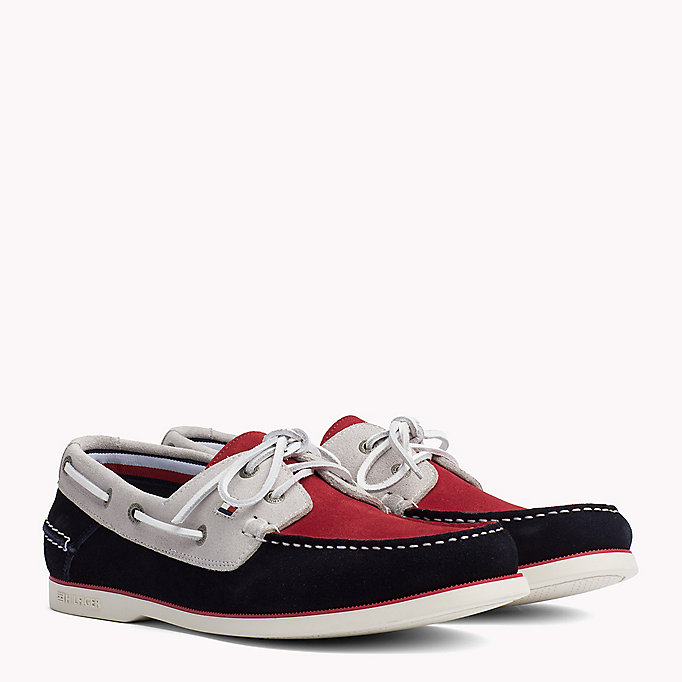 TOMMY HILFIGER Chaussures bateau classiques en cuir - MIDNIGHT - TOMMY HILFIGER Hommes - image principale