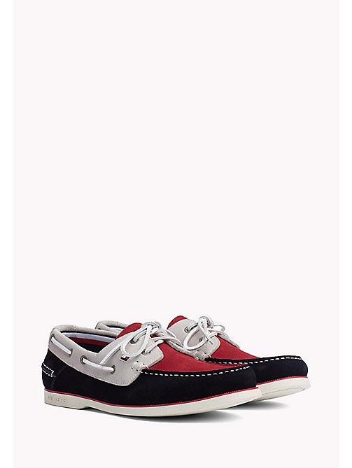TOMMY HILFIGER Classic Leather Boat Shoes - RWB -  NEW IN - main image