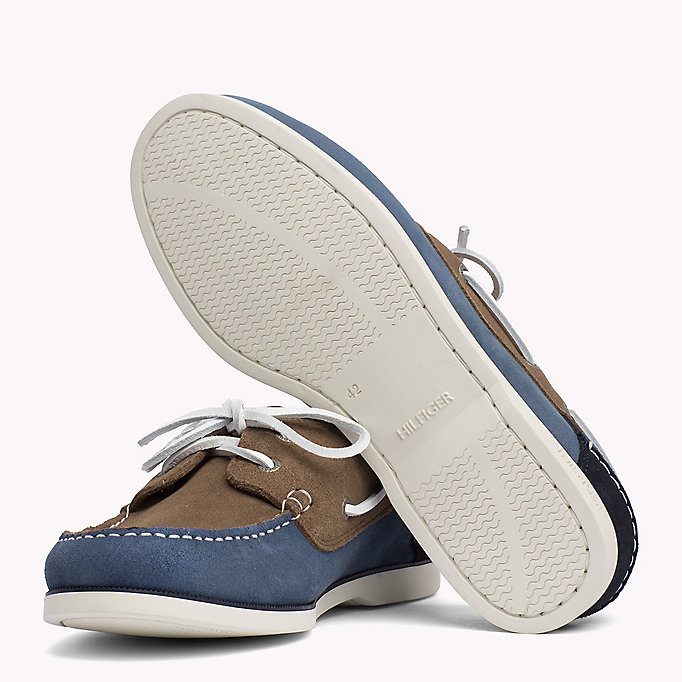 TOMMY HILFIGER Classic Leather Boat Shoes - TAUPE - TOMMY HILFIGER Men - detail image 1