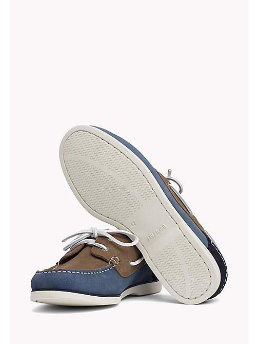 TOMMY HILFIGER Classic Leather Boat Shoes - JEANS-TAUPE-MIDNIGHT - TOMMY HILFIGER Loafers & Boat Shoes - detail image 1