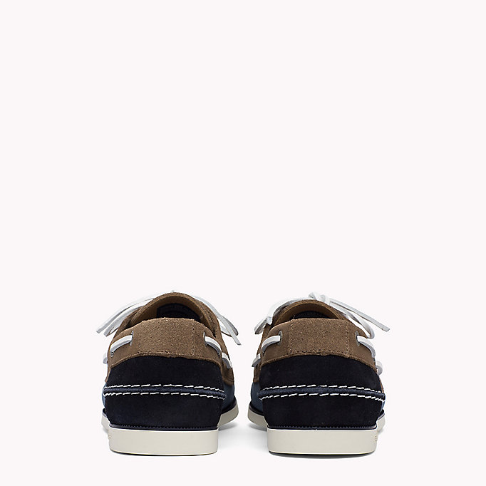 TOMMY HILFIGER Classic Leather Boat Shoes - TAUPE - TOMMY HILFIGER Men - detail image 2
