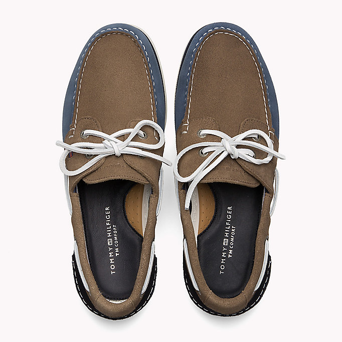 TOMMY HILFIGER Classic Leather Boat Shoes - TAUPE - TOMMY HILFIGER Men - detail image 3