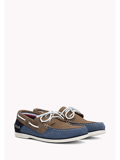 TOMMY HILFIGER Classic Leather Boat Shoes - JEANS-TAUPE-MIDNIGHT - TOMMY HILFIGER Loafers & Boat Shoes - main image