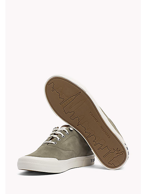 TOMMY HILFIGER Heritage Suede Trainers - DUSTY OLIVE - TOMMY HILFIGER Shoes - detail image 1